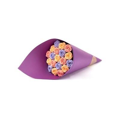 Букет фиолетовый 19 роз