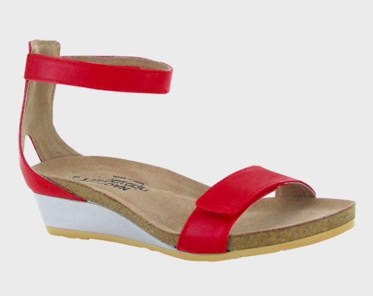 Mermaid Kiss Red Leather Sandal