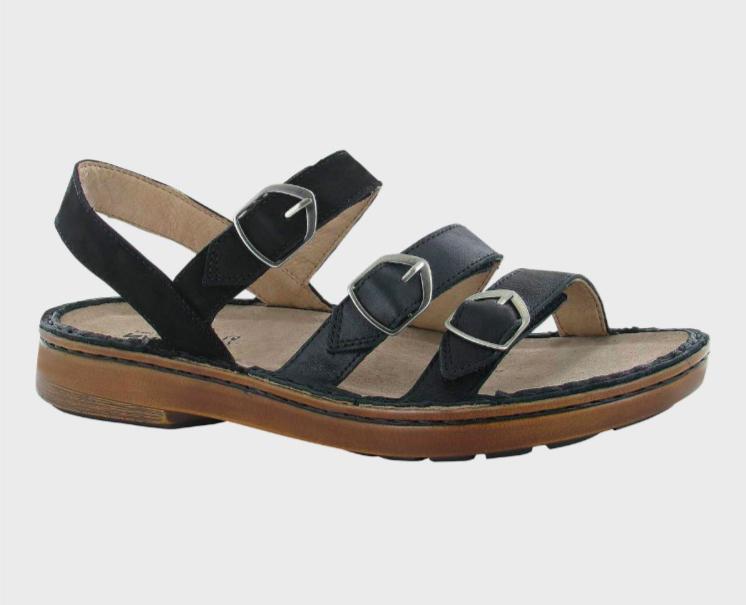 Lamego Soft Black Velvet Sandal