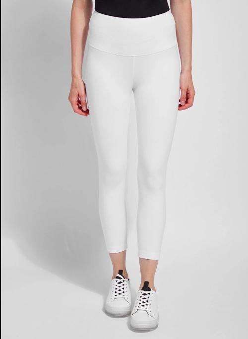 122281 Flattering Cotton Crop Legging White