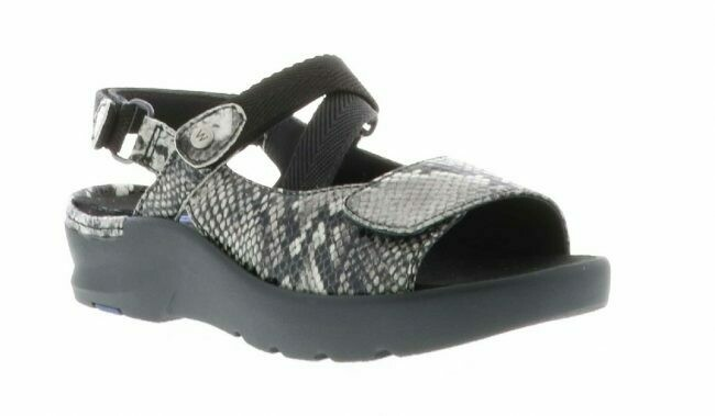 Lisse Anthracite Leather Sandal