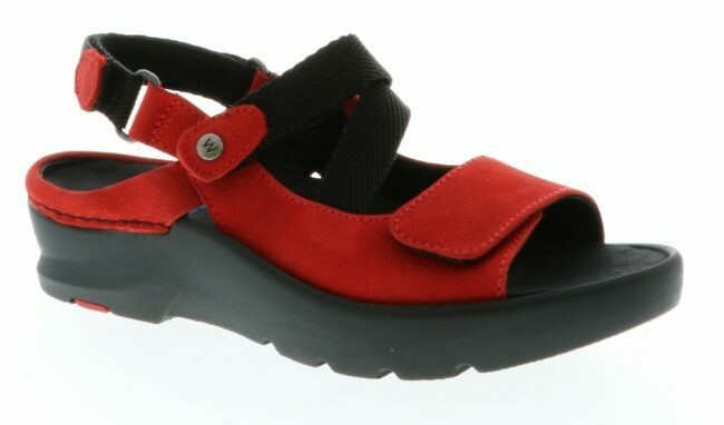 Lisse Red Leather Sandal