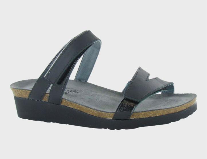 Presely Wide Black Sandal