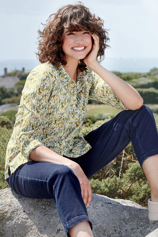 Larissa Shirt Spring Border Dill