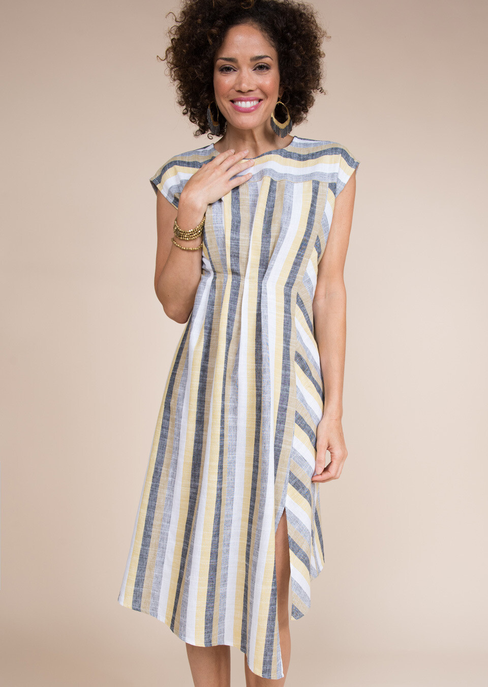 74407 Tuck Front Dress
