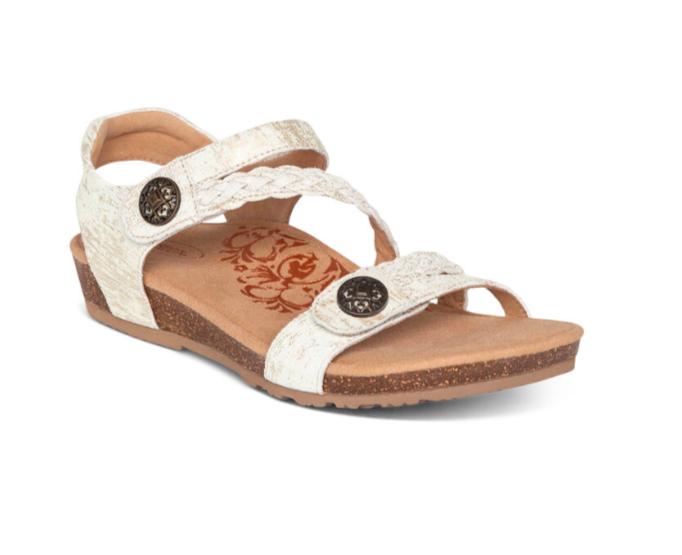 Jillian Gold Adjustable Sandal
