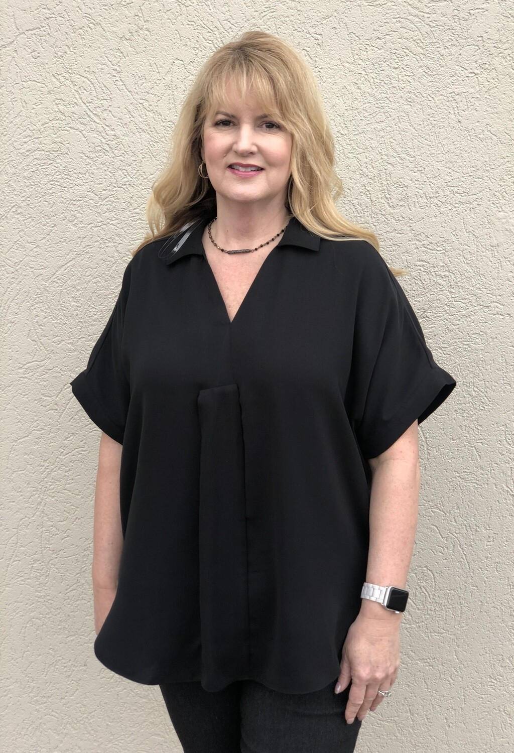 R5847 Woven Blouse in Black