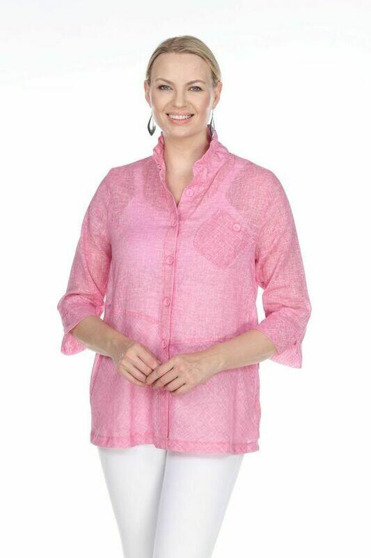 FINAL SALE T4319 Pink Blouse