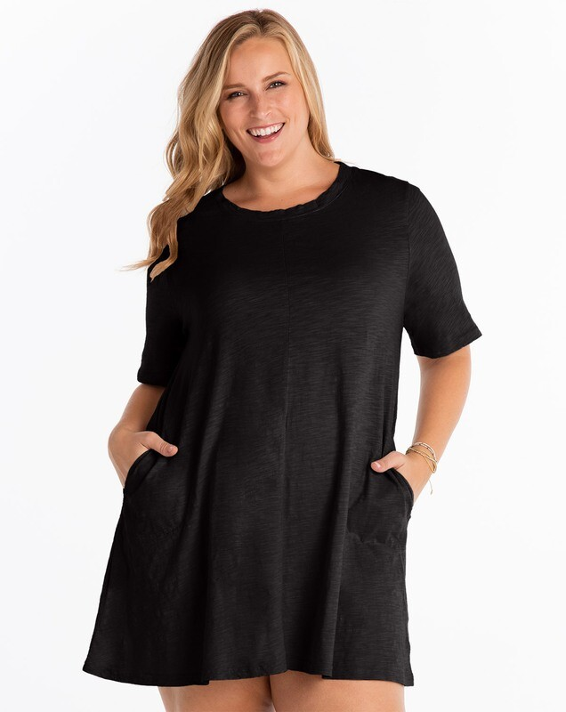ESDLOPD Plus Lorna Dress in Solid Black