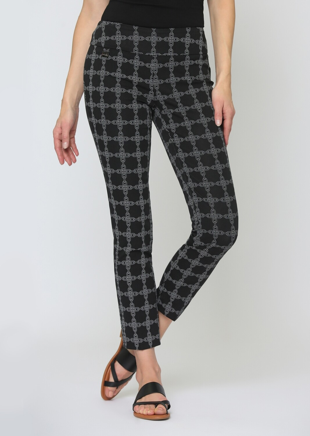"""65501 Chain Link Print 28"""" Ankle Pant"""