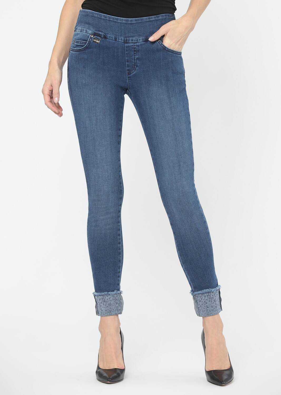 455956 Printed Cuffs 28'' Slim Jean