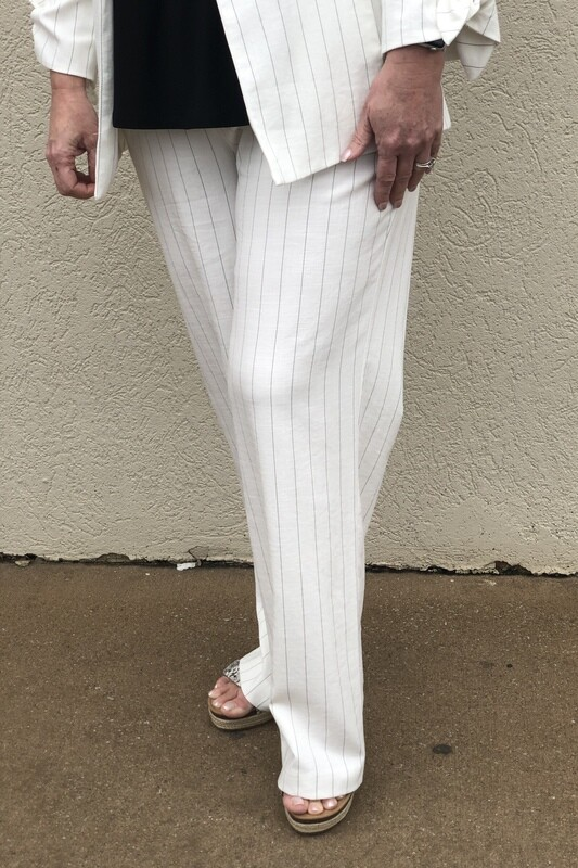 R1934 Ivory Woven Pant