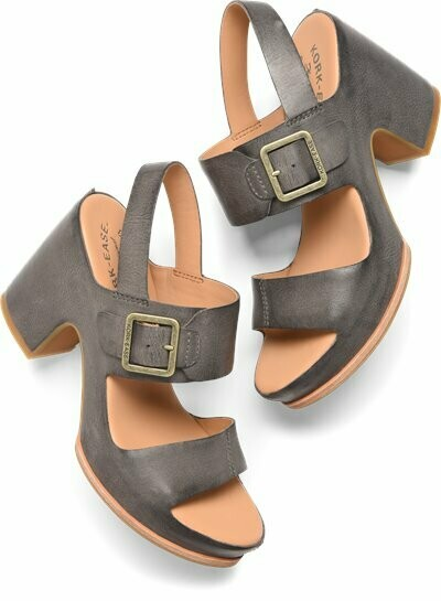 San Carlos Grey Wedge Sandal