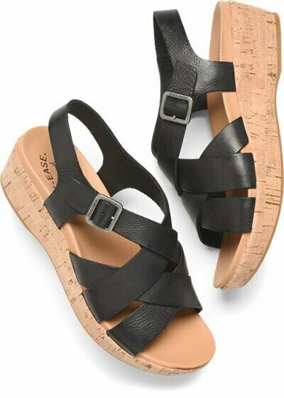 Caroleigh Black Wedge Sandal