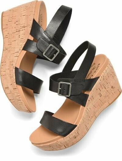 Aimeho Black Wedge Sandal