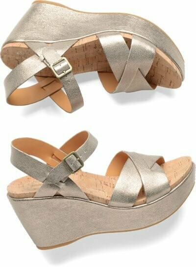 Ava Soft Gold Wedge Sandal