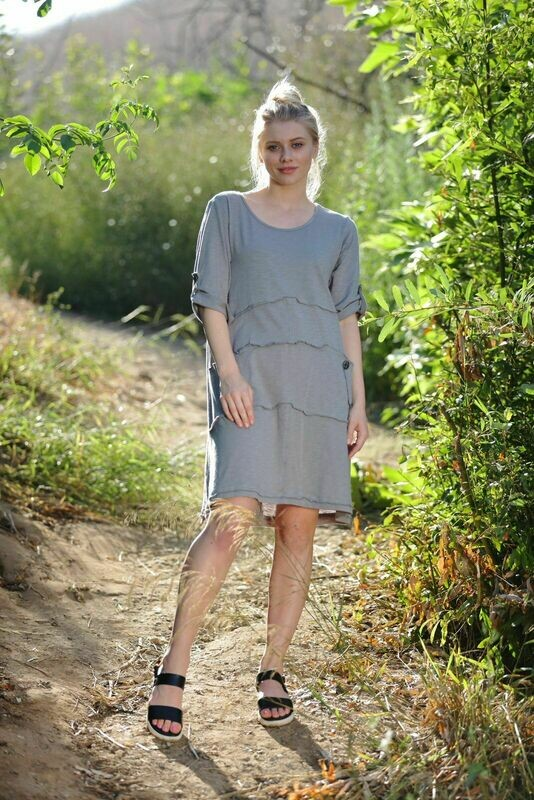 River Dress Eco Moss