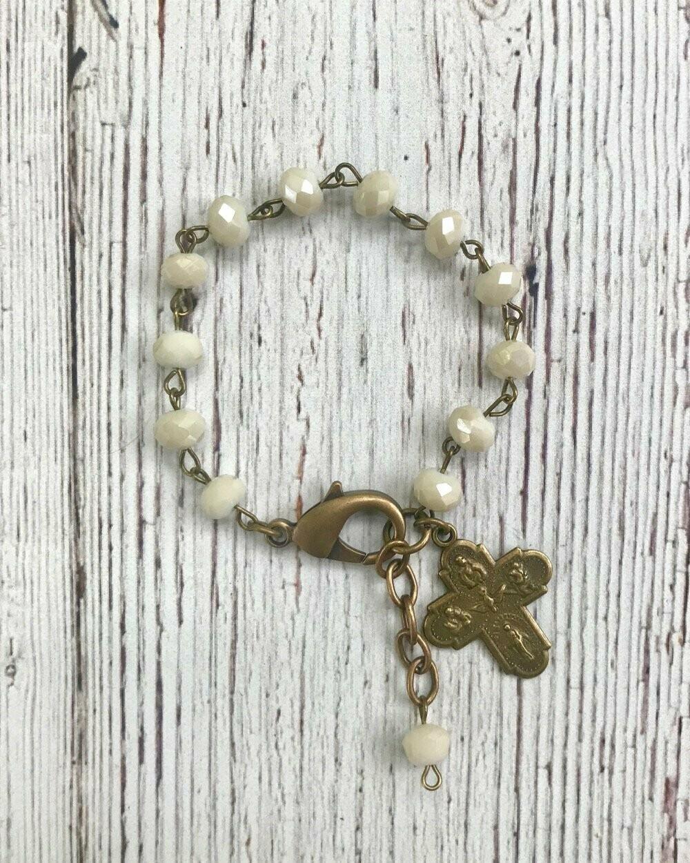 Gratitude Bracelet White