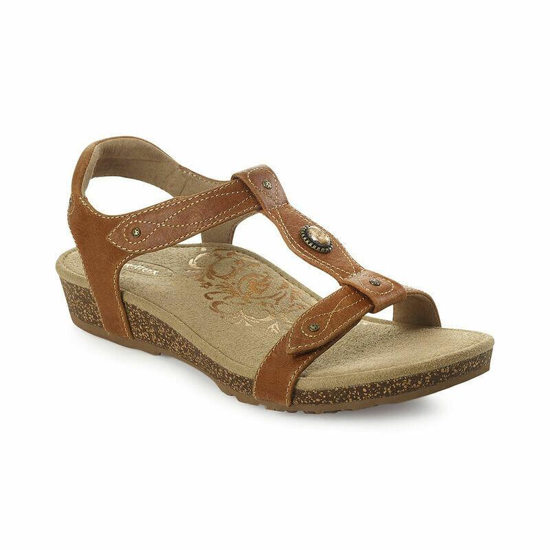 Lori Cognac Adjustable Sandal