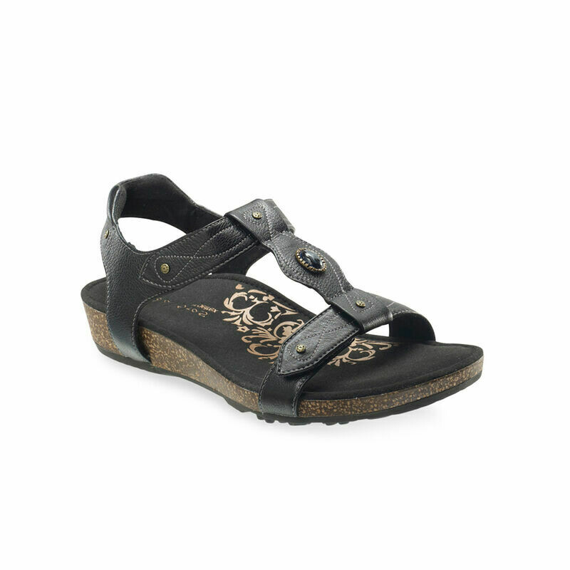 Lori Black Adjustable Sandal