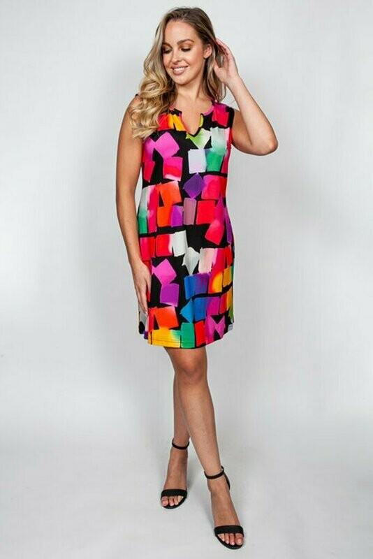 44458 Viscose Cube Dress