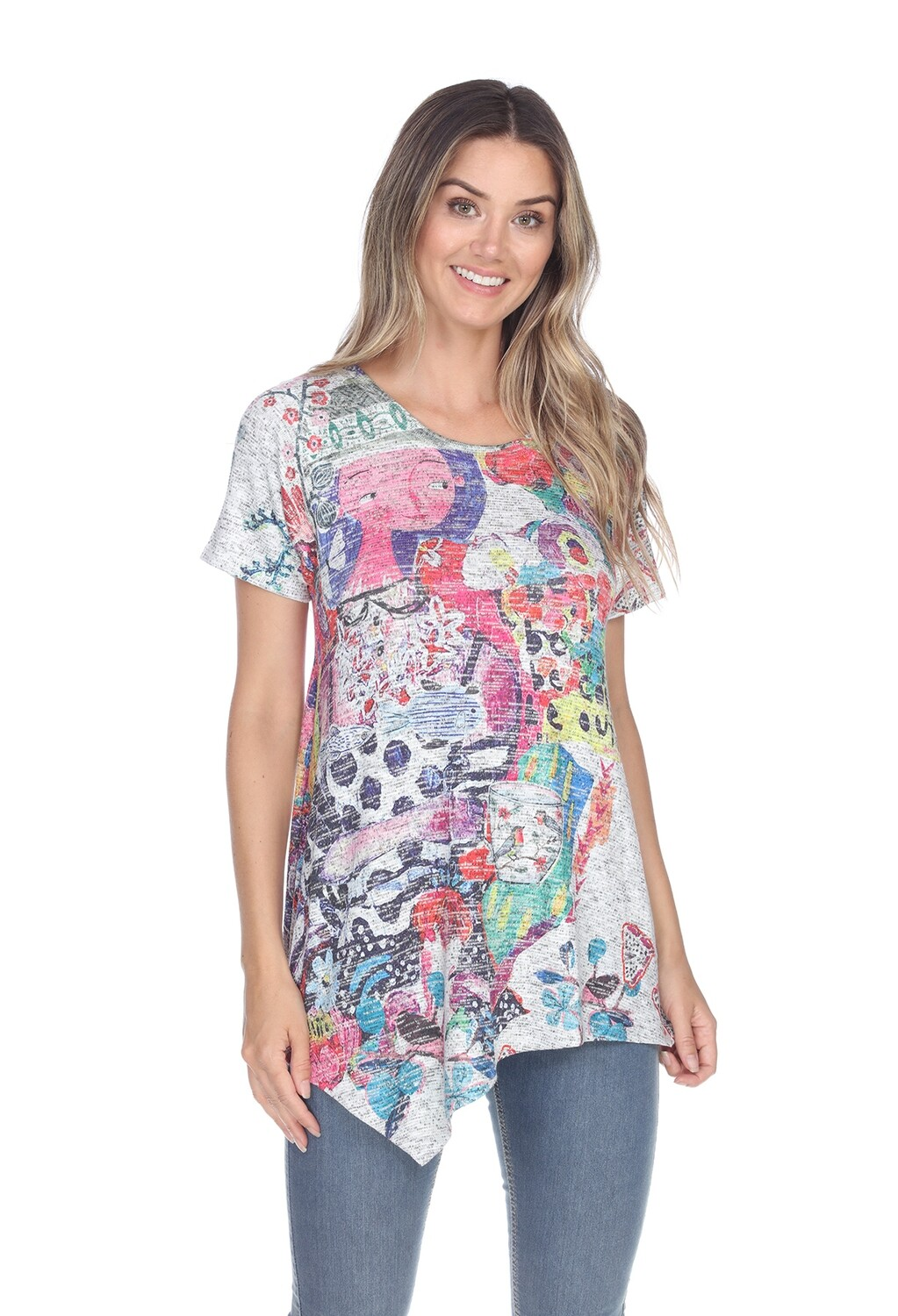 PRE-ORDER T734PS Faces Teacup Tee