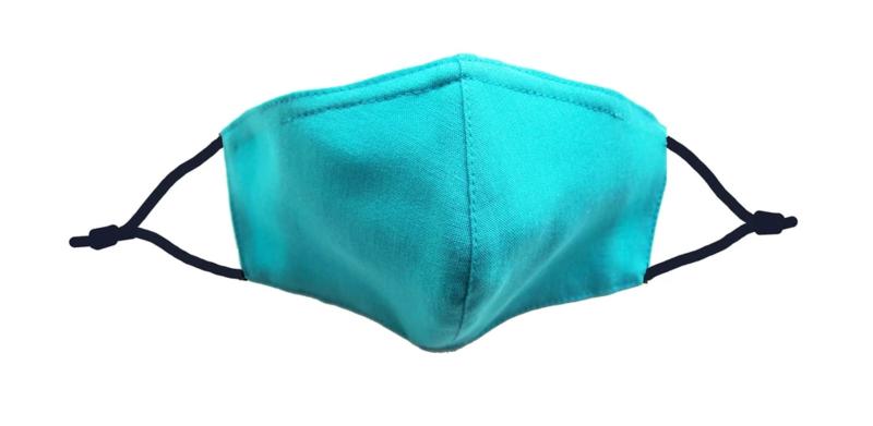 Aqua Green Linen Mask w/ Filter