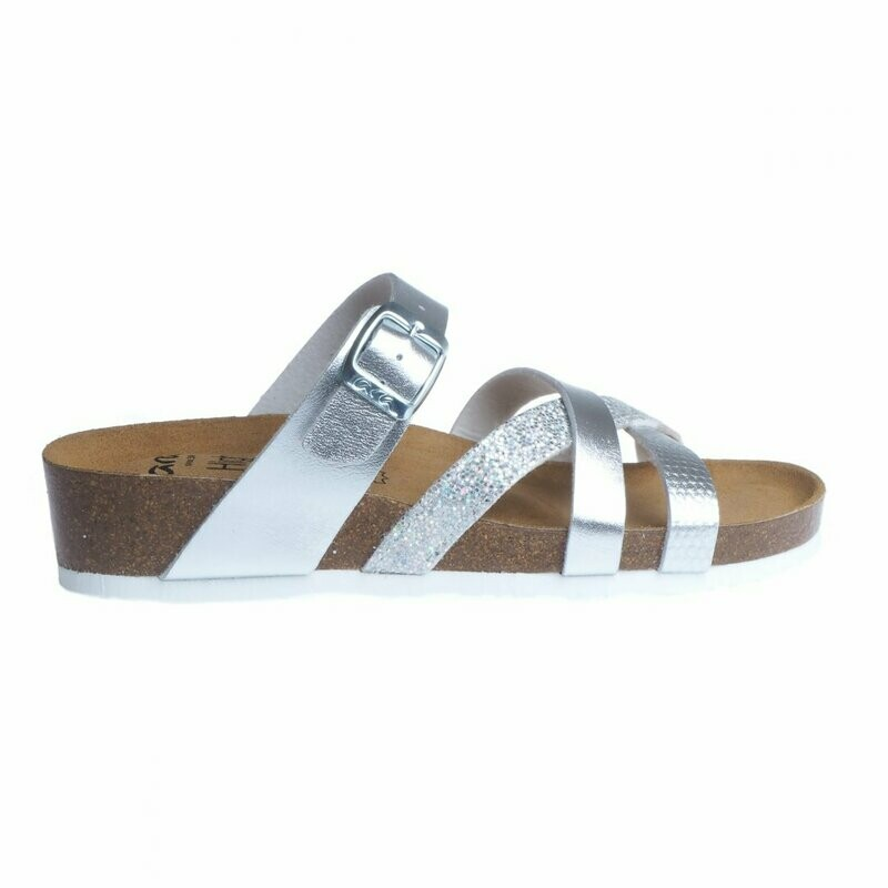 Beth Silver Cork Sandal 17272