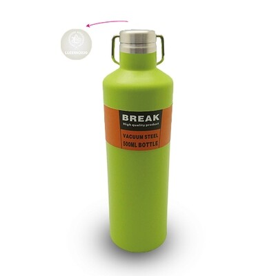 Thermosflasche Break mit Logo, lime