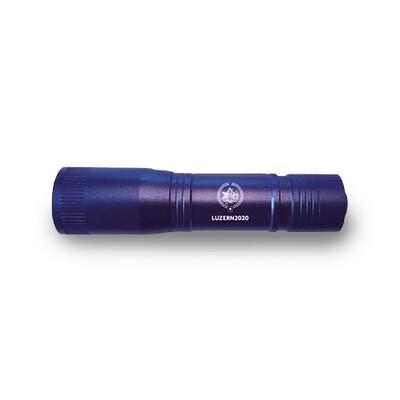 Taschenlampe Luninate mit Logo, blau