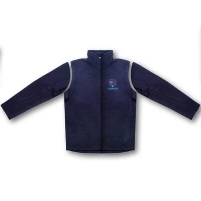 Fleece-Jacke mit abnehmbaren Ärmeln, navy blue