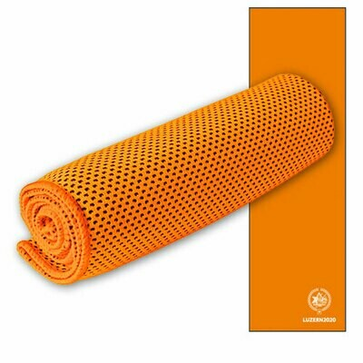 Sporttuch Cooling Towel bedruckt, 30cmx100cm, orange