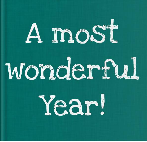 Booky Wooky Board Books 'A Most Wonderful Year'