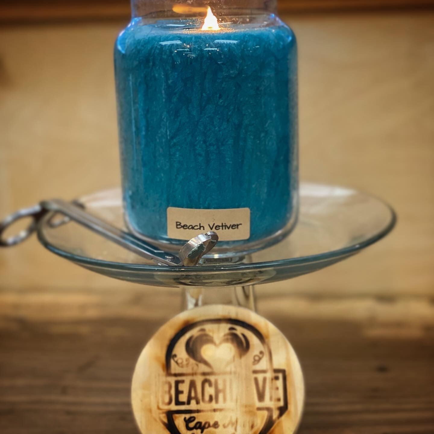 Beach Vetiver Apothecary Jar Candle
