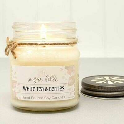 Soy Candle 8 oz. - White Tea & Berries