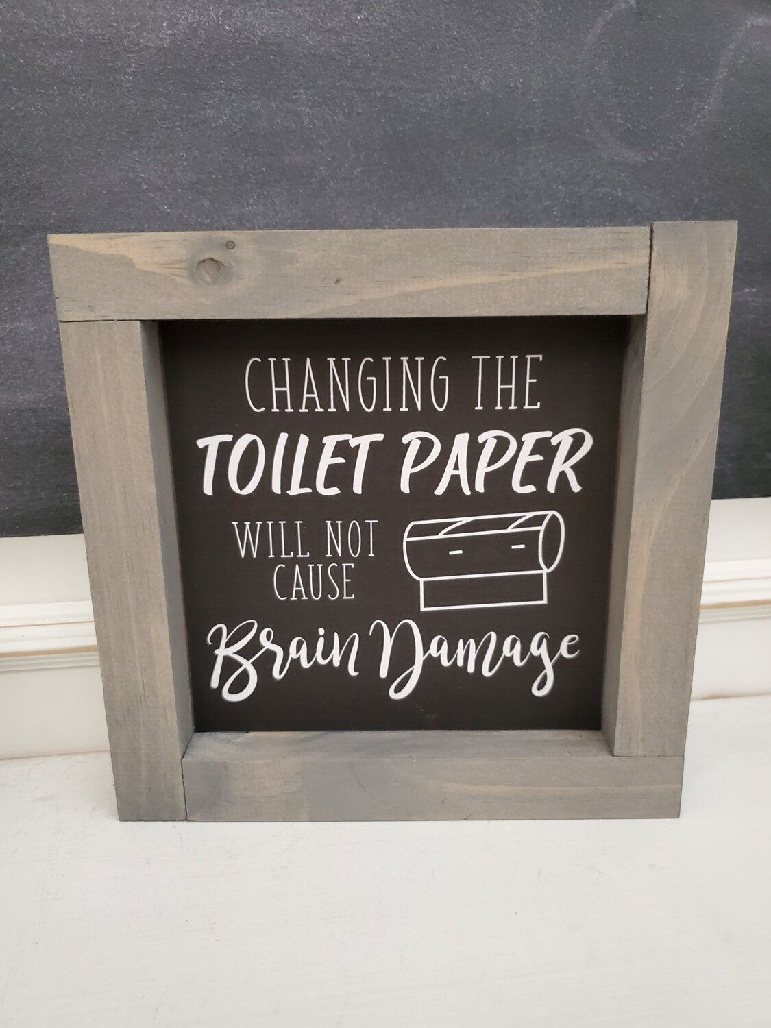 Wall Art - Changing Toilet Paper (gray wash)