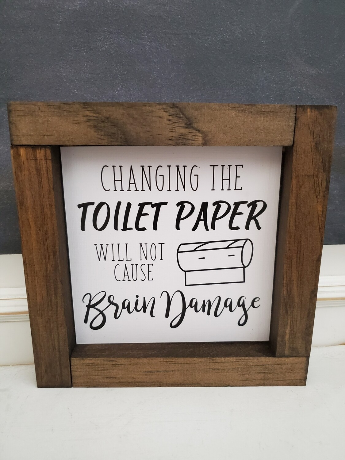 Wall Art - Changing Toilet Paper (walnut)