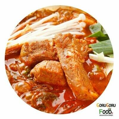 등갈비묵은지 김치찜 Back Ribs Braised Pork and Ripe Kimchi
