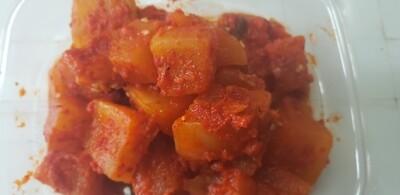 묵은지 볶은 깍뚜기 Braised Ripe Radish Kimchi