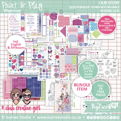NEW Print&Play - Our Story Collection - Gracelilly Devotional Kit - (Eng+Afr)