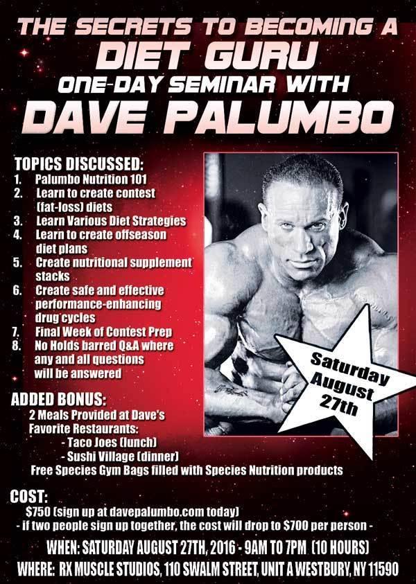 Dave palumbos diet