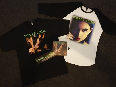 Wicked Value Bundle two shirts, signed cd, sticker & plectrum free shipping