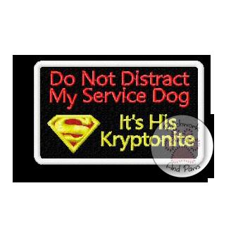 Don't Distract Service Dog - Kryptonite