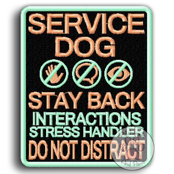 Service Dog Stay Back - Large
