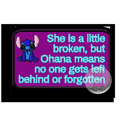 She Is A Little Broken - Stitch