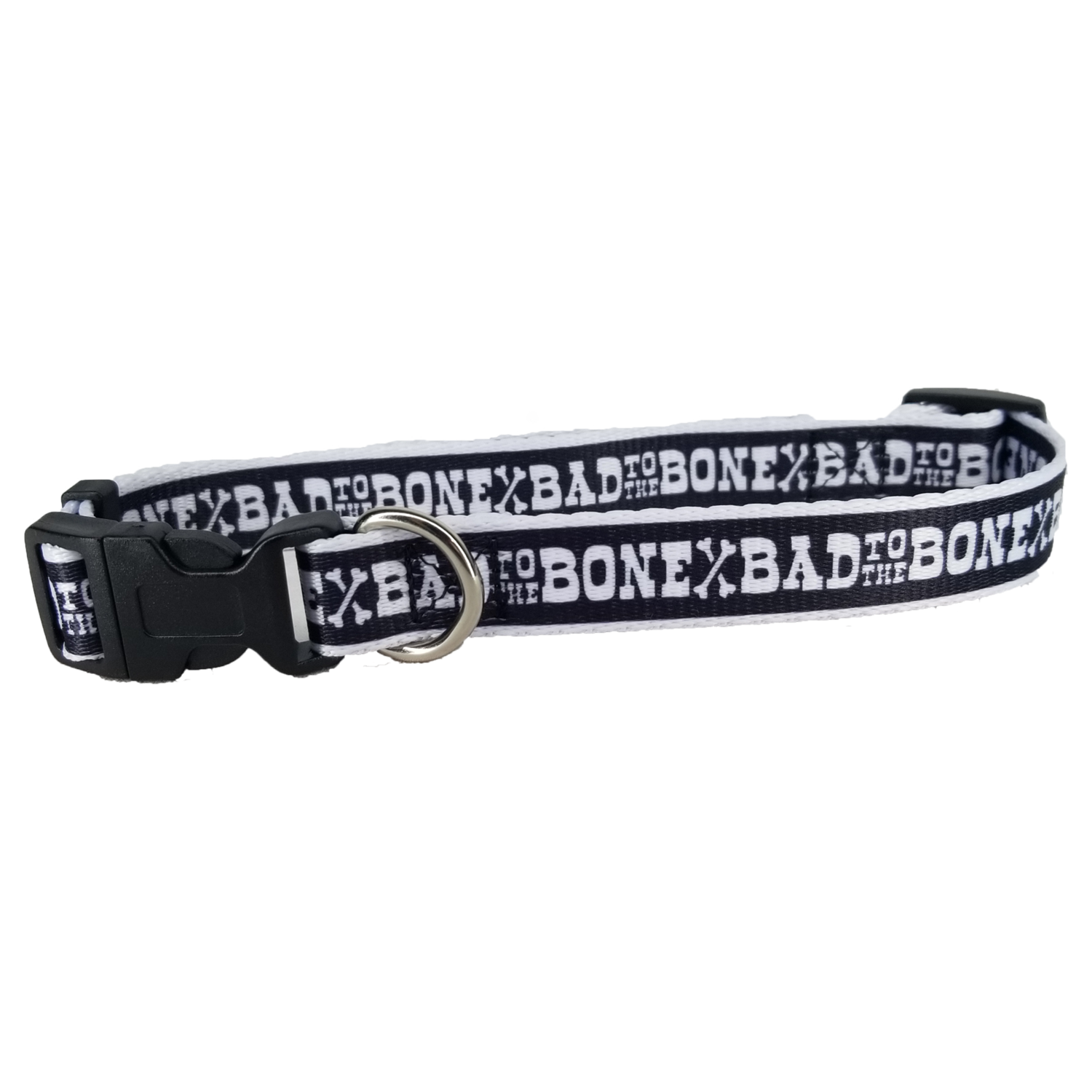 Adjustable Bad to the Bone Dog Collar