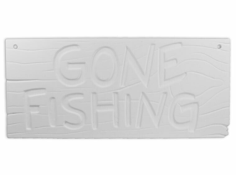 Gone Fishing Plaque