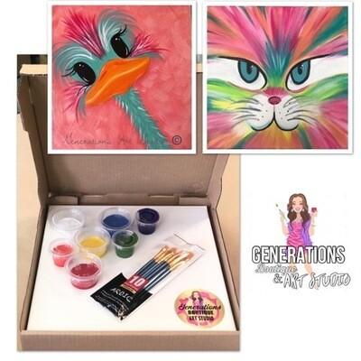 Paint Kit Cool Cat and Olly Ostrich