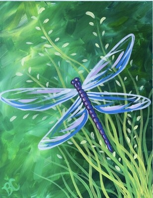 Dragonfly Dreams IN STUDIO Paint and Sip Class with ZOOM option