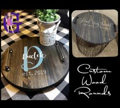Custom Wood Rounds IN STUDIO Paint and Sip Class with ZOOM option